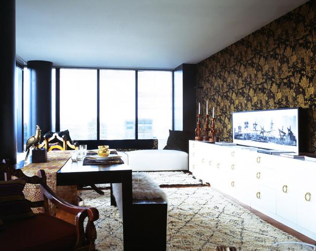 Manhattan Pied-à-terre contemporary-living-room