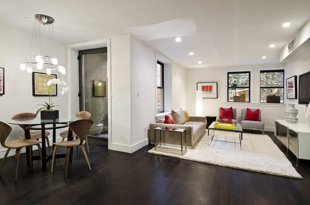 Manhattan Tri-Plex contemporary-living-room