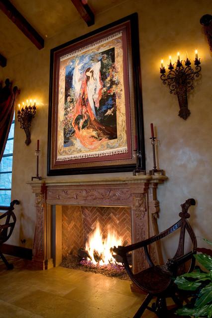 Manian Residence mediterranean-living-room