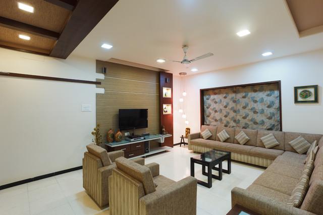 Manish and satish harlalka residence for Living room kandivali east