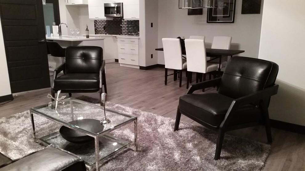 manly sleek  sexy  modern  living room  edmonton