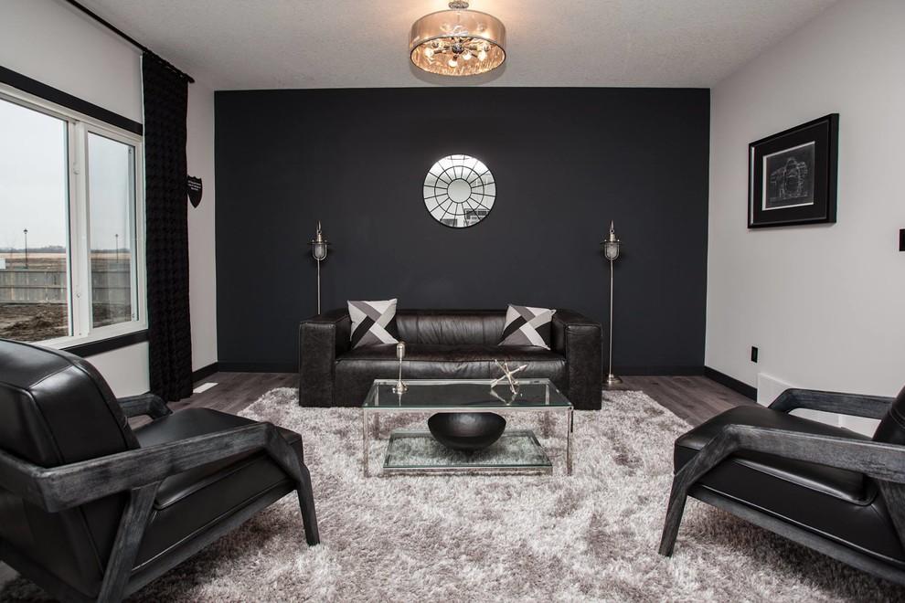 Manly Sleek Sexy Modern Living Room Edmonton By Addison Grace Design