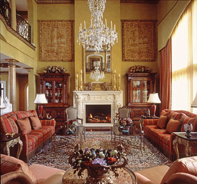 Manor House Traditional Living Room Dallas By