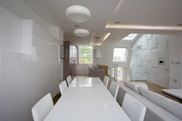 Mansard in earls court sw5 contemporary living room for Mansard room