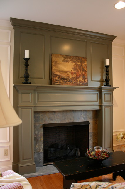 Mantle surround, fireplace - Traditional - Living Room ...
