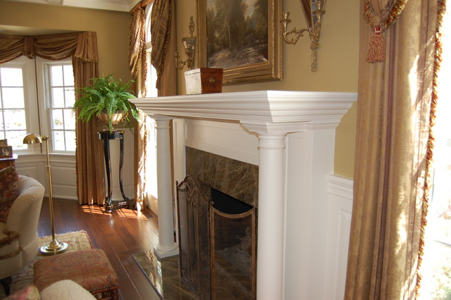 Mantles traditional-living-room