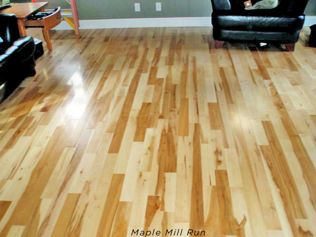 Maple hardwood flooring contemporary living room for Wooden flooring dealers