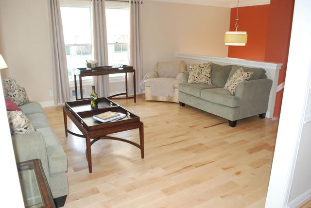 Maple Hardwoods Transitional Living Room