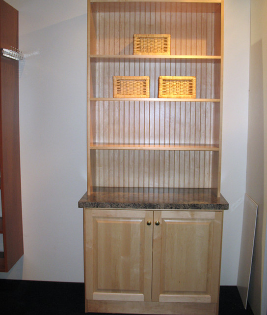 Maple Hutch With Beadboard Back And Granite Top - Traditional