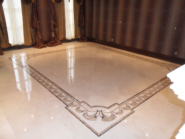 Superbe Marble Border In Livingroom Traditional Living Room