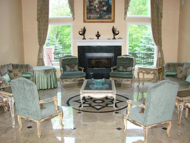 Marble refinishing/polishing traditional-living-room