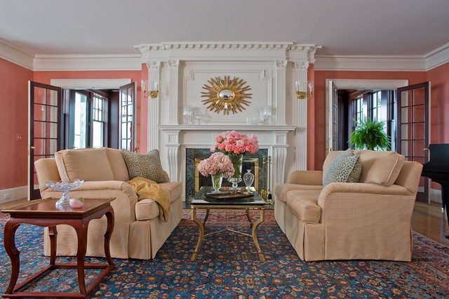 Marblehead Coastal Home traditional-living-room