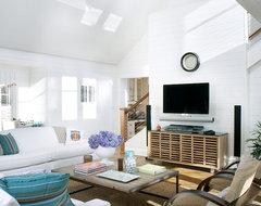 Marblehead Residence beach-style-living-room