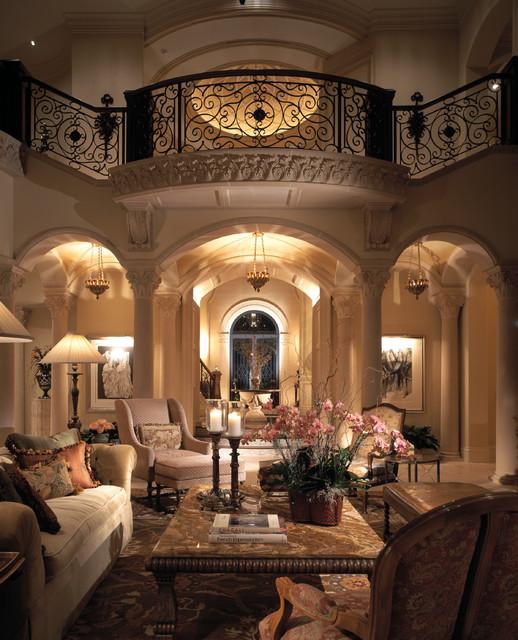 Mediterranean Style Living Room Design Ideas: Marc-Michaels Interior Design