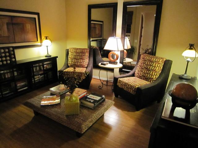 Marcia Designs contemporary-living-room