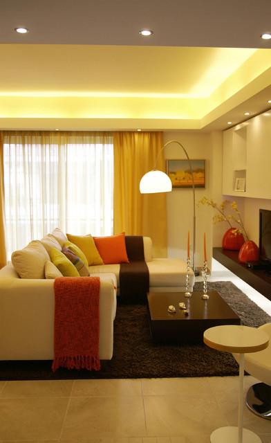 Maria Ypsilanti contemporary-living-room