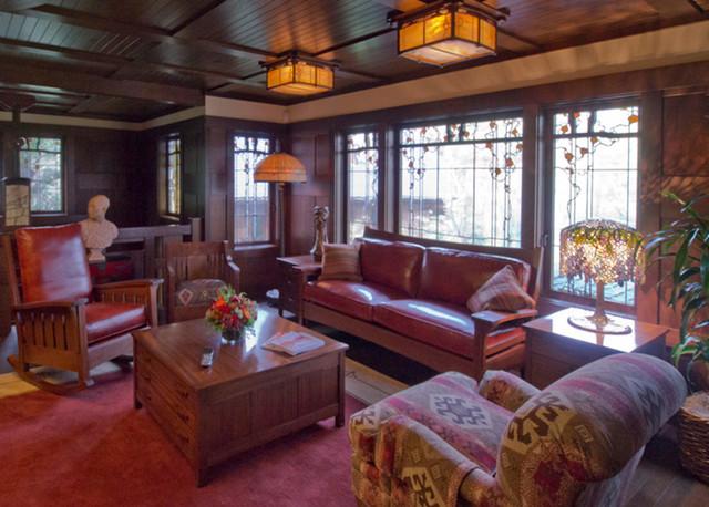 Marin Craftsman Bungalow Jewelbox Craftsman Living Room San Francisco By Soyoung Mack