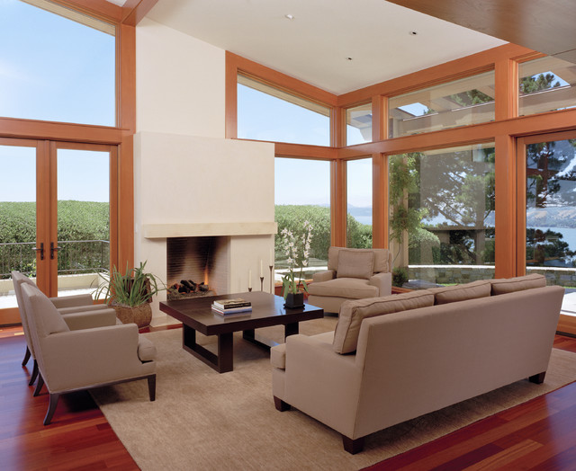 Marin Residence contemporary living room