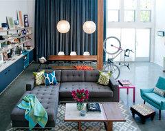 Marina Del Rey, CA eclectic-living-room