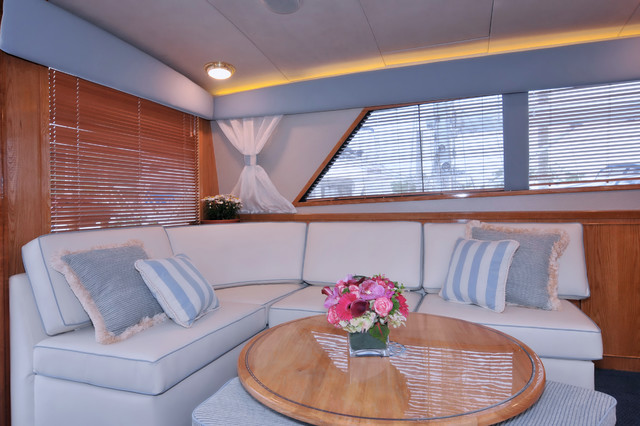 Marine Interior Design 46 Bertram Yacht Transitional Living
