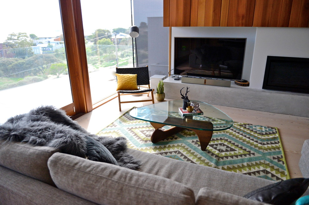 Contemporary living room in Adelaide.