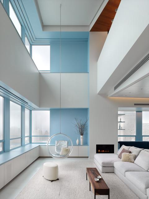 Market Street Penthouse Living room modern-living-room