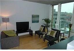Markham Street Condo modern-living-room