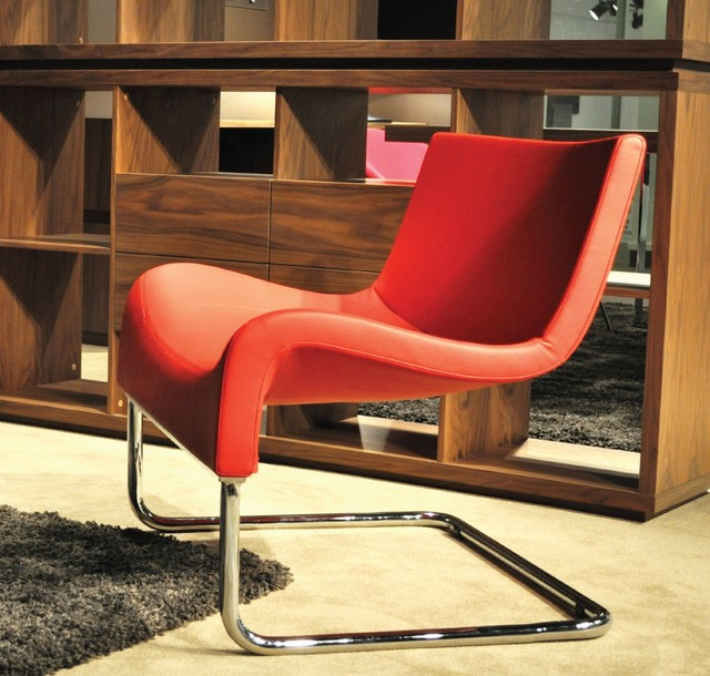 Marmaris Contemporary Chair & Malta Bookcase - contemporary ...