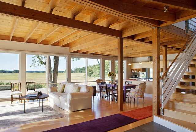 Marsh house modern living room boston by estes for Estes twombly architects