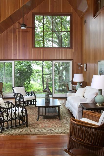 Martha's Vineyard Addition - Living Room traditional-living-room