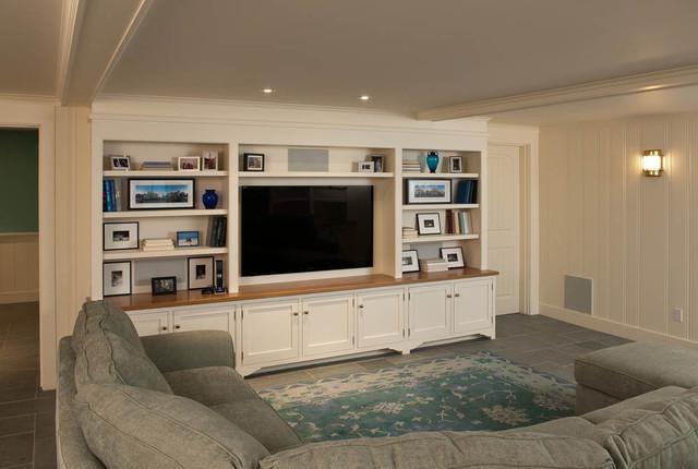 Waterfront Residence, Martha's Vineyard beach-style-living-room