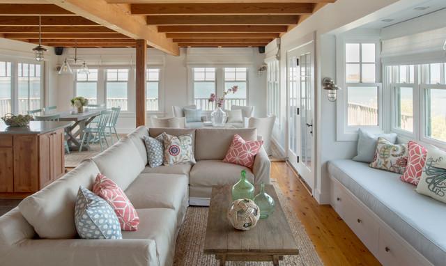 Marthas Vineyard Interior Design Cottage Maritim Wohnzimmer