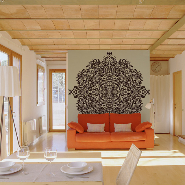 Martin satí wall murals for bloompapers contemporary living room