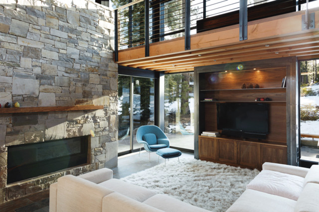Martis Camp 246 Rustic Living Room San Francisco