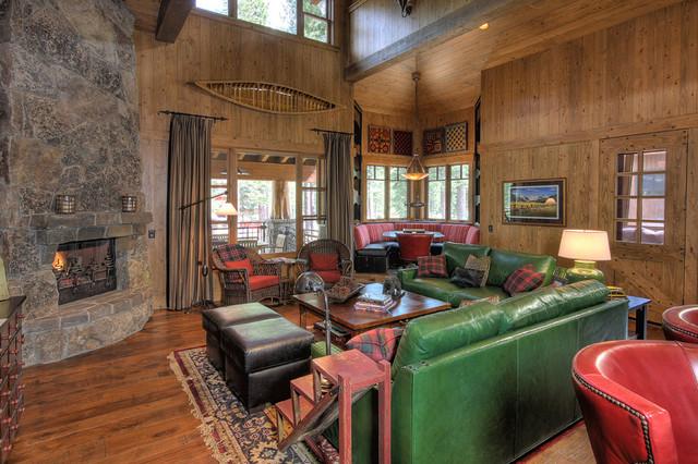 Martis Camp Cabin_2 traditional-living-room