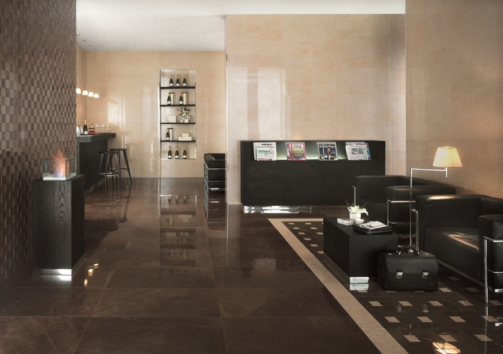 Marvel - Premium Italian Marble Look Porcelain Tiles - Contemporary -  Living Room - Auckland - by Tile Space New Zealand | Houzz