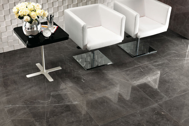 Marvel   Premium Italian Marble Look Porcelain Tiles Contemporary Living  Room