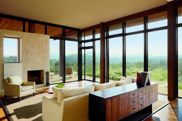 Marvin ultimate casement windows modern living room for Marvin ultimate windows cost