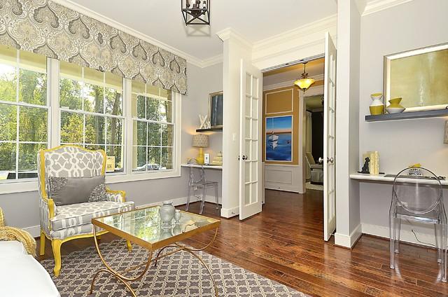 Maryland Green Designer Show Home craftsman-living-room