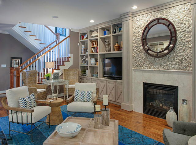 Maryland Green Show House Beach Style Living Room Dc Metro