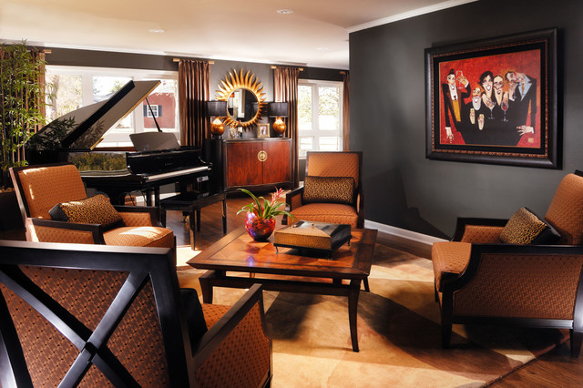 Masculine living room traditional los angeles by for Masculine living room designs