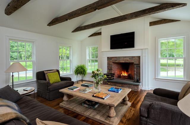massachusetts farm house farmhouse living room new