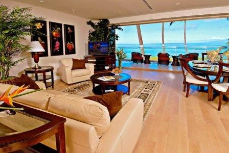 Maui Beachfront Villas Tropical Living Room Hawaii By Tervola Designs