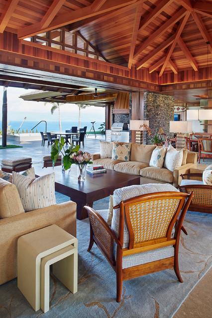 Maui Plantation Residence  Kolonialstil  Wohnbereich