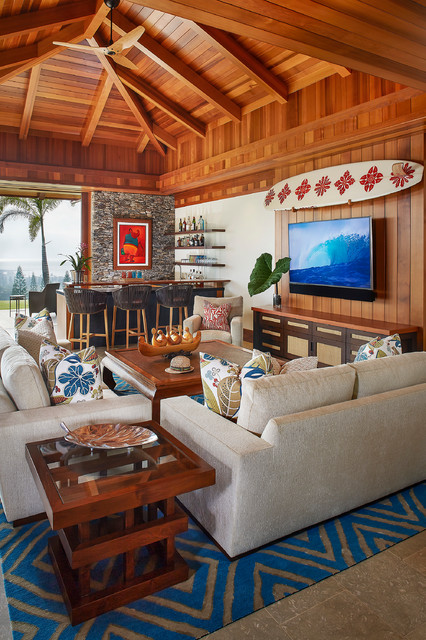Maui Plantation Residence Tropical Living Room San Francisco By Henderson Design Group