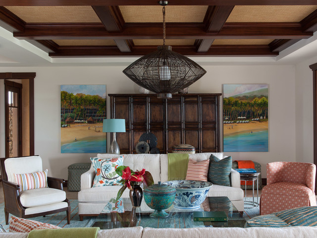 eclectic living room by Henderson Design Group