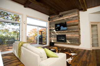 Max - Contemporary - Living Room - Montreal - by Les Constructions MontagneArt