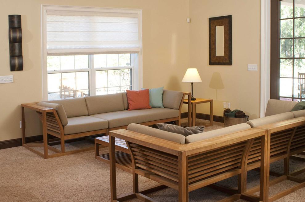 Maya 7pc Twin Teak Sofa Set Modern Living Room Los Angeles By Westminster Teak