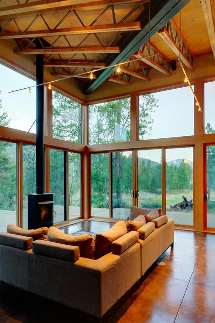 mazama cabin contemporary living room seattle by miners refuge great room contemporary living room