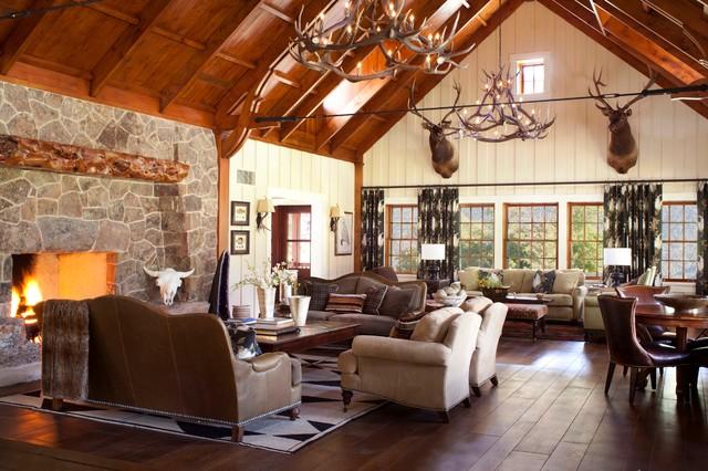Mccoy colorado rustic living room denver by ashley for Interior design denver